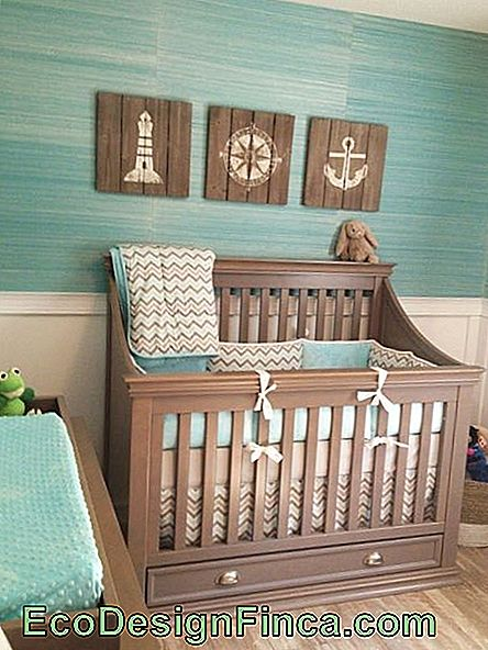 baby room sailor farverige krybbe