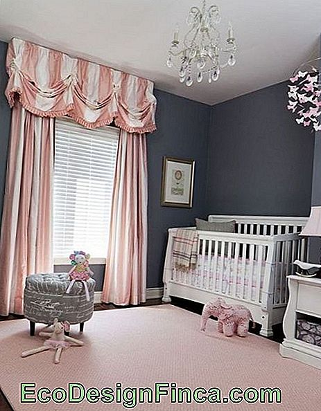 light pink carpet in gray baby room
