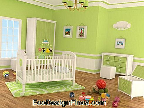 6 Green Baby Room Decor Idéer til inspiration!: godt