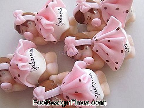 Baby biscuit for girl with pink polka dot dress