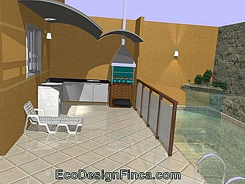 conception de la piscine avec barbecue