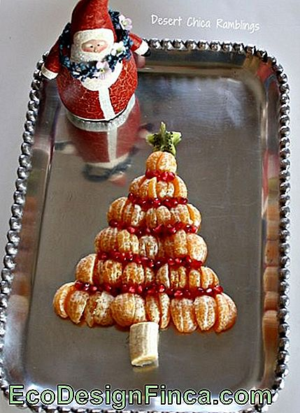 Christmas tree of fruits.