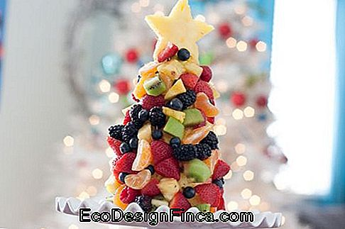 Arbre de Noël de fruits.