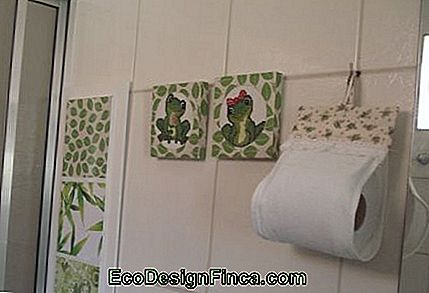 Cornici per bagno e toilette: come decorare e 30 foto!: come
