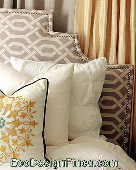 glatte polstret headboard tacks