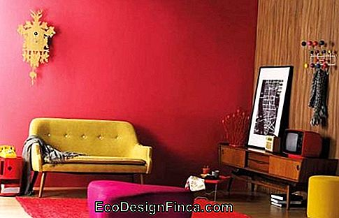 chambre simple mur rouge