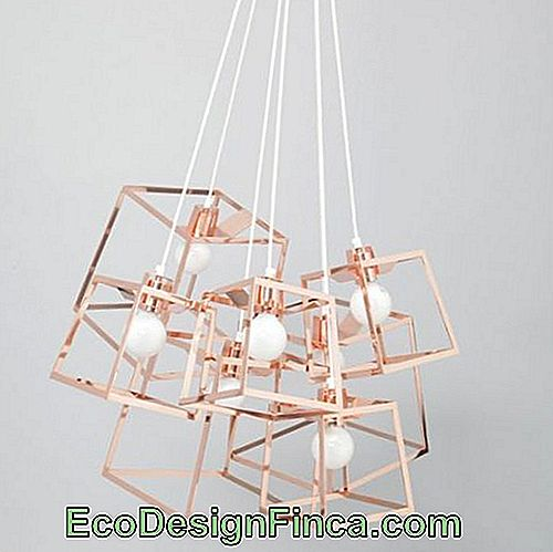 Suggestion de lampe contemporaine en or rose