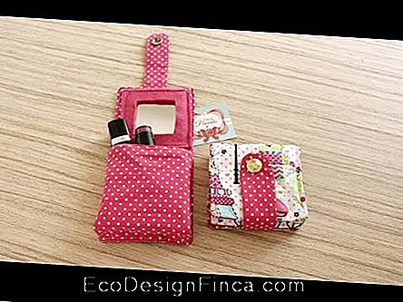 Lipstick holder: In red fabric