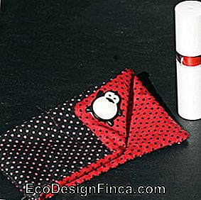 Lipstick: In red and black fabric