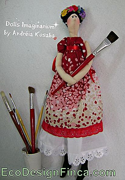 Frida Kahlo Cloth Doll stile tilda