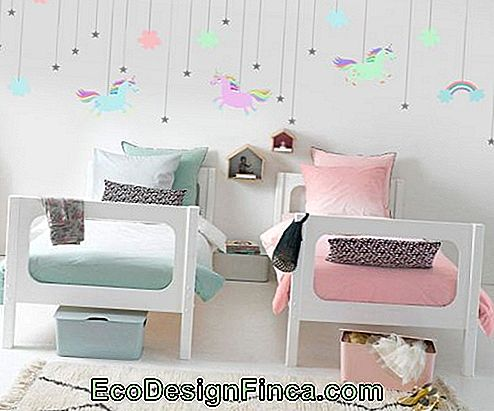 Unicorn room with delicate decoration