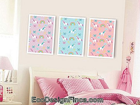Unicorn frames for decorating children's room