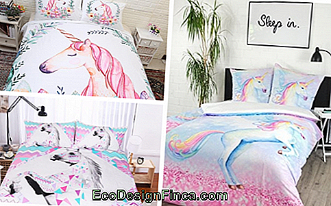 A set of bedding, for example, also facilitates the decoration of the unicorn room