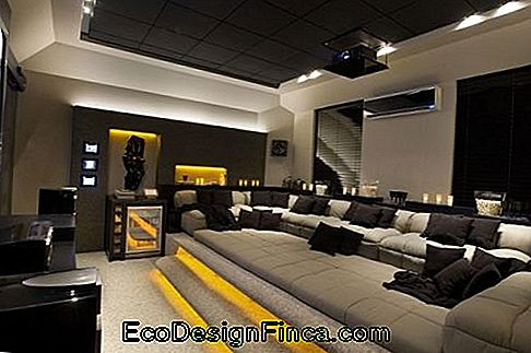 decorazione moderna home theater