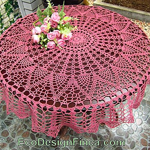 point ouvert de crochet rose,