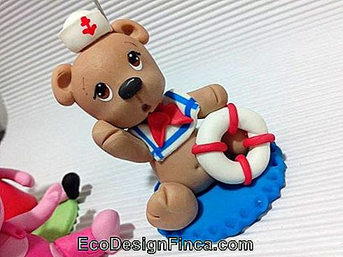 Sailor biscuit ours avec ancre