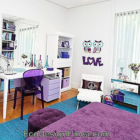 commode moderne violet
