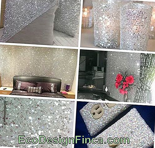 Inspirations d'applications de paillettes en décoration