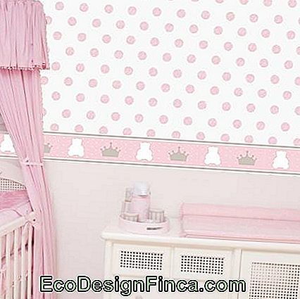 Behang voor baby prinses kamer