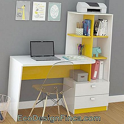 White and Yellow Desk - Magazine Luiza - R $ 269,90 *
