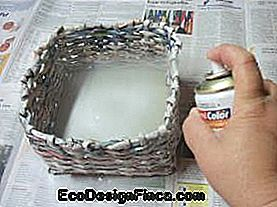 square newspaper basket