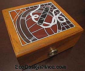 Cigar Box with Mosaic Cover