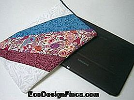 Cover voor tablet in patchwork. Pas je tablet aan!