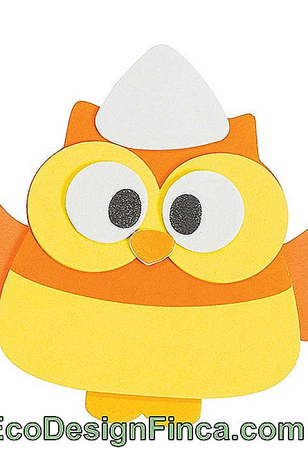 Hibou EVA orange et jaune