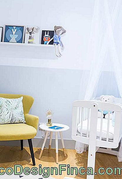 Compact and modern furniture for small baby room
