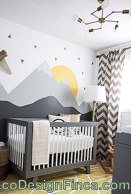 Illustration in small baby's room
