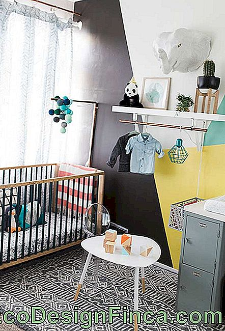 Modern small baby room in industrial style