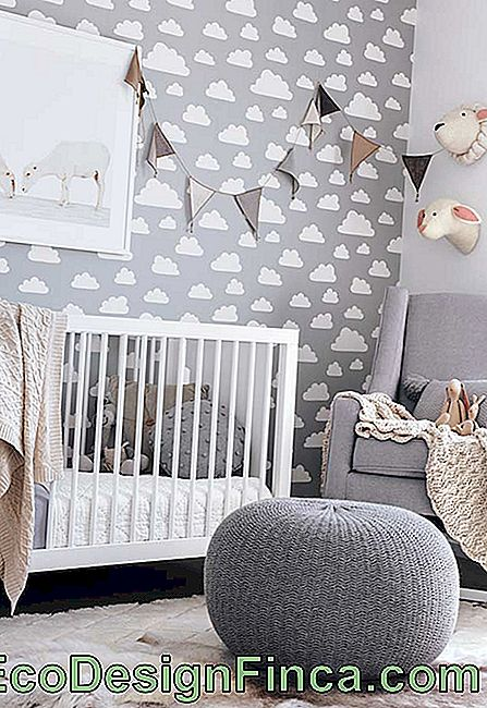 Baby room with cloud theme
