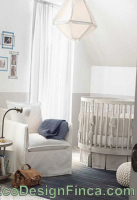 Small baby room with several fabrics
