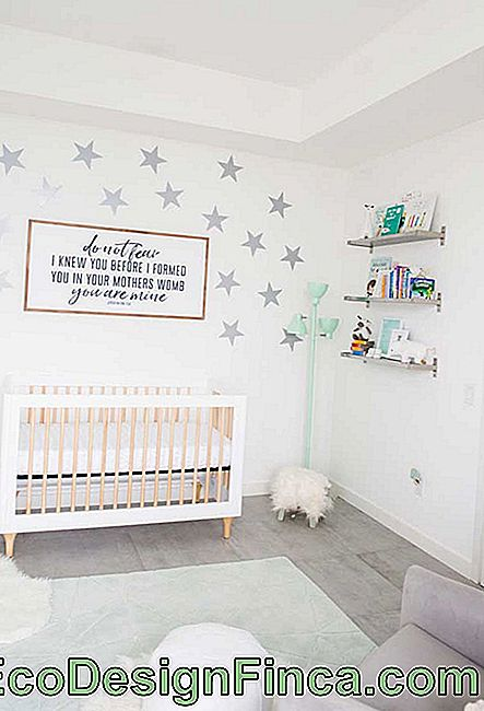 Starry sky in small baby's room