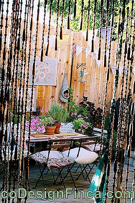Decorated wooden balcony