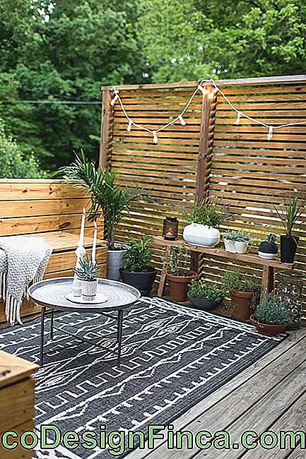 Rustic and cozy wooden balcony