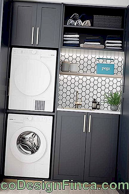 The service area could not be left out of this trend and took advantage of the color of the appliances to complete the decor