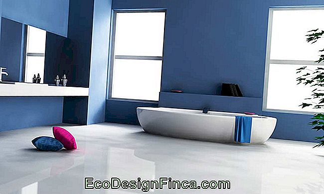 Blue bathroom - example