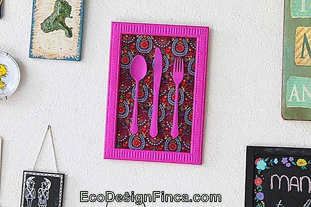 DIY frame with colorful cutlery