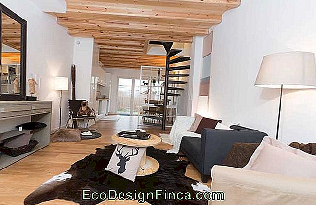 Modern rustic room with coffee table made with wooden spool