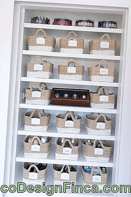 The boxes - or wicker baskets - are with everything in the decoration; if you like the style, invest in it