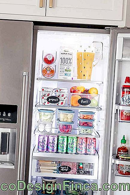 Even inside the refrigerator! Here, organizer boxes help keep food well packaged and easily locatable