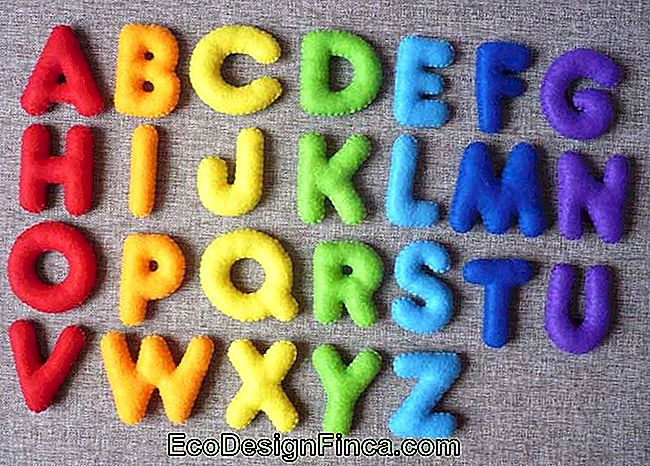 Felt letters of varied colors ready to create the decoration you want
