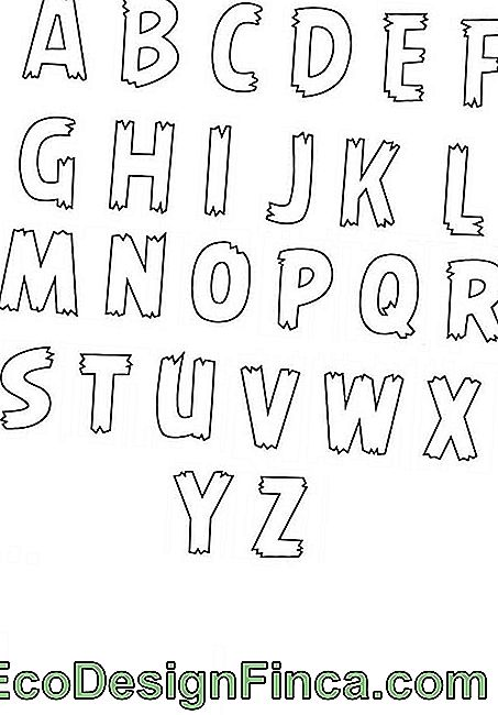Fine letter templates - full alphabet