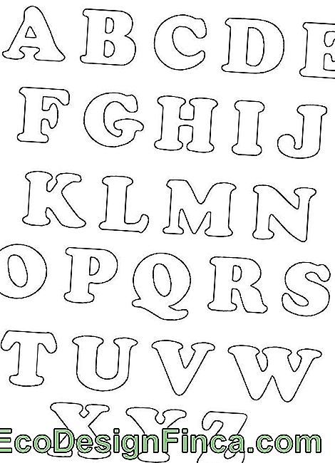 EVA letters templates - full alphabet