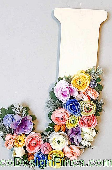 3D letter decorated with flowers