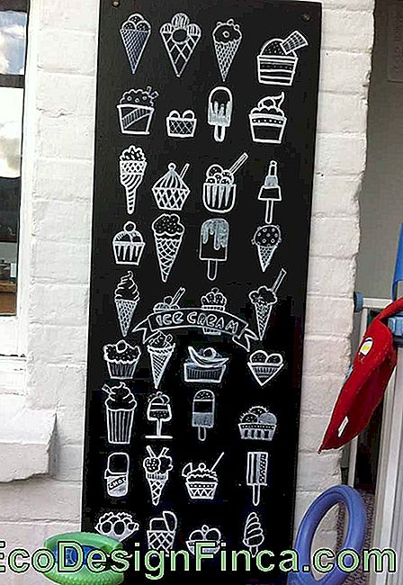 The inspiration for this Chalkboard are ice creams