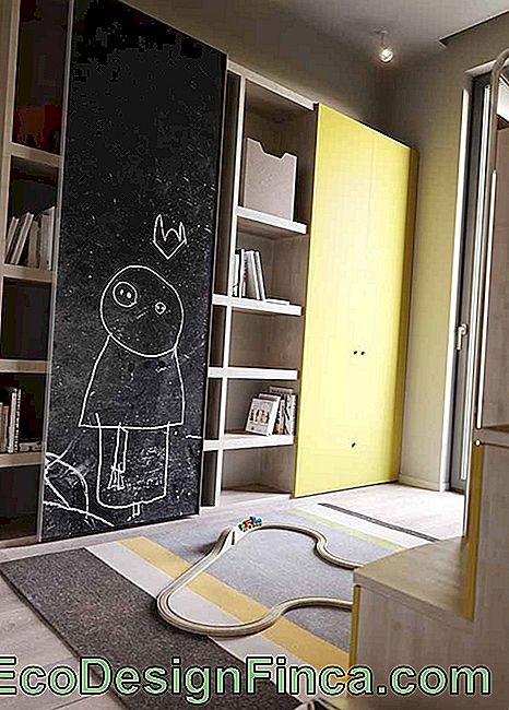 In the children's room, the Chalkboard is a screen to let creativity and imagination flow