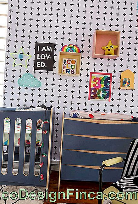 Matching dresser and cot: a very common choice of children's decor