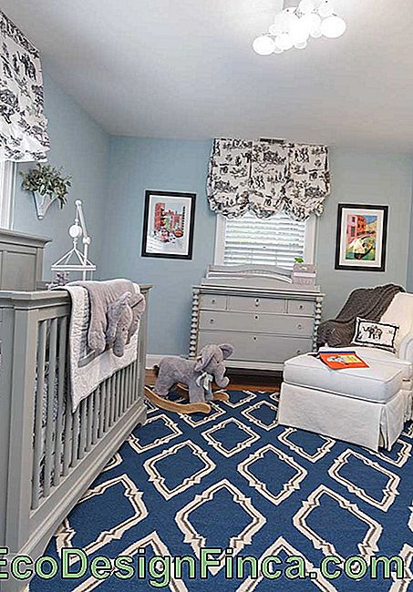 Baby's room with gray furniture